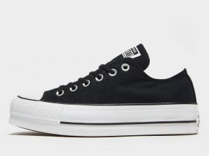 Converse All Star Lift Ox Platform para mujer, Negro