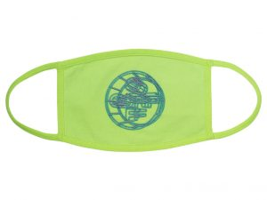 OFF-WHITE 3D Crossed Face Mask Fluo Yellow/Multicolor