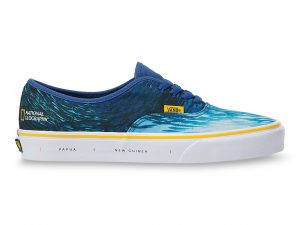 VANS Zapatillas Authentic Vans X National Geographic ((national Geographic) Ocean/true Blue) Mujer Azul, Talla 38.5