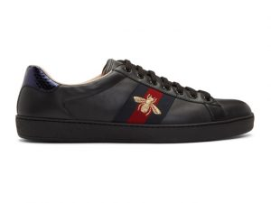 Gucci Black Ace Embroidered Bee Sneakers