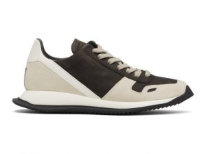 Rick Owens Brown Runner Lace-Up Sneakers
