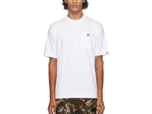 AAPE by A Bathing Ape White One Point T-Shirt